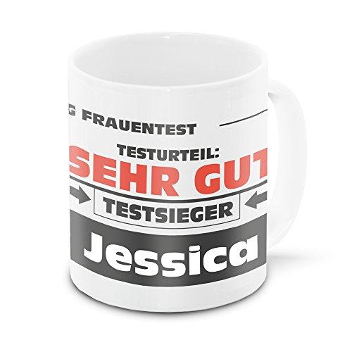 Namens-Tasse Jessica mit Motiv Stiftung Frauentest, weiss   Freundschafts-Tasse - Namens-Tasse