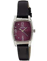 Sonata Analog Purple Dial Women's Watch - 87003SL03A