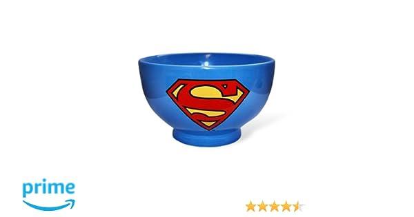 Elbenwald Superman Logo M/üslischale DC Comics 2 Motive Superman u Logo Geschenk f/ür Comicfans sp/ülmaschinenfest