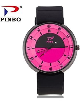 Souarts Damen Armbanduht Einfach Stil Sport Analoge Quarz Uhr Weiß 24cm