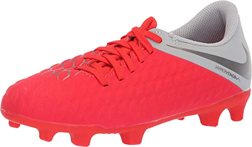 Nike Jr Hypervenom 3 Club Fg, Scarpe da Calcetto Indoor Unisex-Adulto, Multicolore (Lt Crimson/Mtlc Dark Wolf Grey 600), 38.5 EU