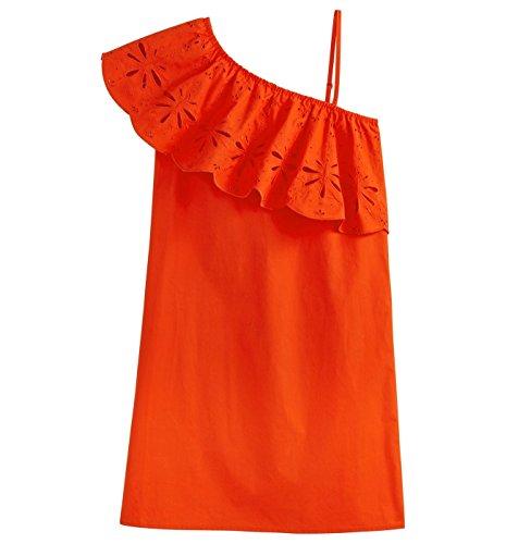 Promod Robe one shoulder Femme Rouge