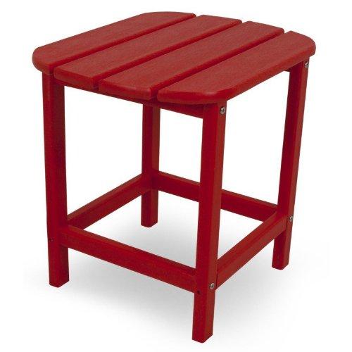 CASA BRUNO Beistelltisch 48x38x46 cm, aus recyceltem Poly-HDPE Kunststoff, rot - kompromisslos wetterfest