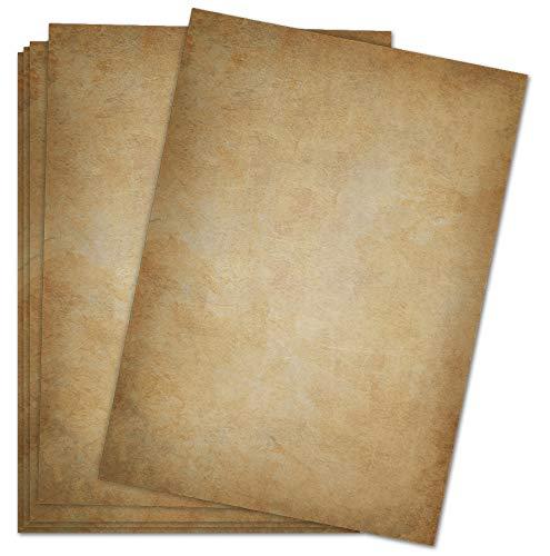 Briefpapier Vintage / 50 Blatt/DIN A4 / 120g / beidseitig bedrucktes Motivbriefpapier im hochwertigen Stil - dunkel - Von Sophies Kartenwelt