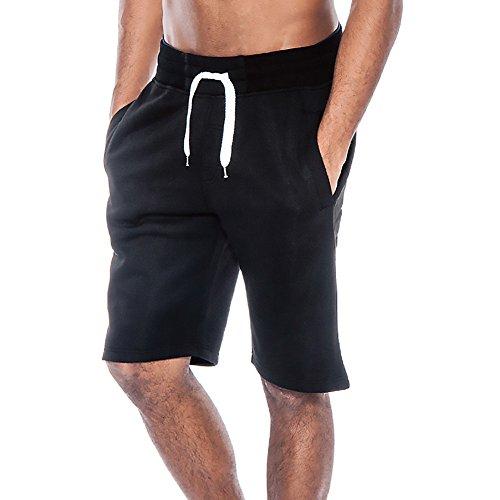 Herren Sommer Kurze Hose Bequeme Elastische Taille Trainingshose Sporthose mit Kordelzug Freizeithose Sweatpants Jogginghose Große Größe