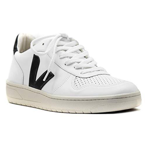 Veja - Basket V10 Leather Couleur - EXTRA WHITE BLACK, Taille - 43