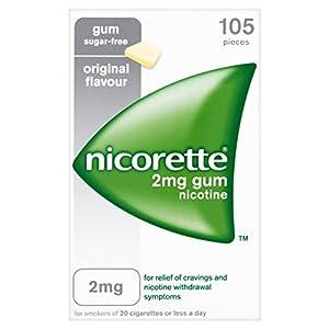Nicorette Chewing Gum 2 mg Original - 105 Pieces