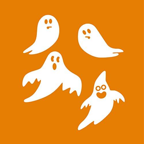 nyl - Geister - von 20,3 cm bis 38,1 cm - lustige Gruselige Halloween-Dekoration - Kinder Teenager Erwachsene Innen Außen Wand Fenster Wohnzimmer Büro Decor ()