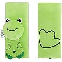 Newin Star Almohadillas para Cinturón de Seguridad,Protector de cinturón,Cinturón de Seguridad Cojín de Coche,Ajustable Protectores para la Cabeza para bebé (rana)