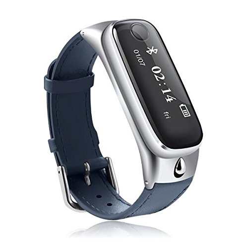 MaMaison007 M6 Auricolare Bluetooth braccialetto Smart Sport Tracker sonno Moniter Smart guarda per Android telefono cellulare IOS - argento