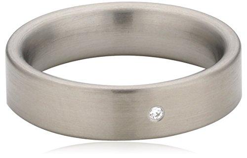 Xen Damen-Ring Edelstahl Zirkonia weiß Gr.54 (17.2) 011405G54