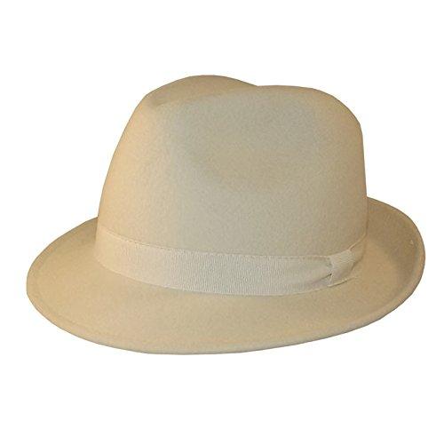 Chapeau-tendance - Chapeau Trilby Blanc Maccorse - 54 - Homme