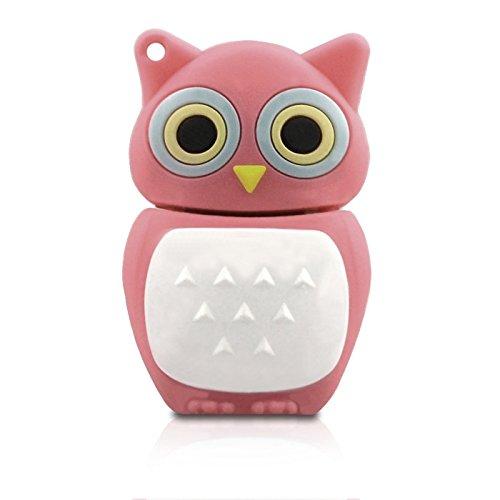 ZUBER–Memoria®–Memoria flash USB Pen Drive Memory Stick regalo de búho rosa–UK vendedor envío en 24horas.