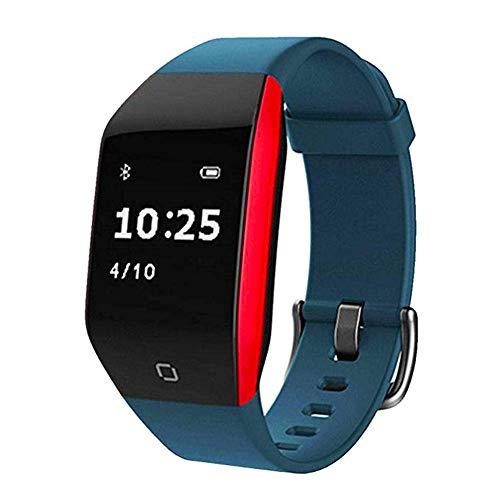 TNUGF fitnessuhr, Blutdruckmessgerät-Smartwatch wasserdicht mit MP3-Player und Pulsmesser-Gürtel, Schrittzähleruhr, geeignet für aktive Damenuhren, blau - Gürtel Mp3