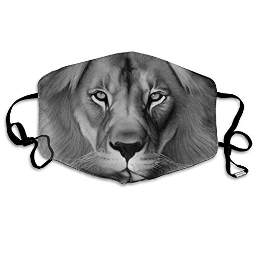 Daawqee Staubschutzmasken, Lion Crown Printed Mouth Masks Unisex Anti-dust Masks Reusable Face Mask