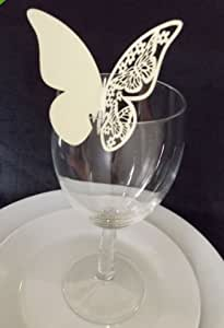 Butterfly Wedding Name / Place Cards, PACK OF 100 IN IVORY
