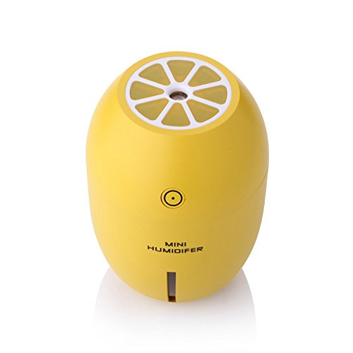 Xigeapg Lemon Ultraschall-Luftbefeuchter aetherisches oel Diffusor Aroma mit LED-Lampe Aromatherapie Spray Luftdiffusor USB Luftbefeuchter Gelb LM-001