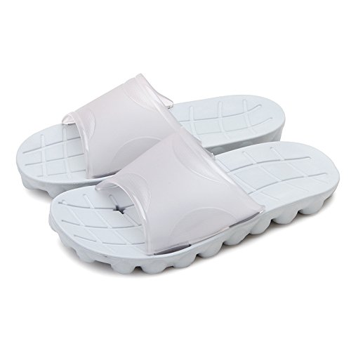 DogHaccd pantofole,Un paio di estate acqua ciabatte da bagno, vasca da bagno ha un in plastica antiscivolo cool pantofole home uomini Codice di grandi dimensioni Grigio1