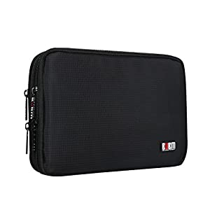 BUBM Universal Double Layer Travel Gear organiser / Electronics Accessories Bag / Battery Charger Case
