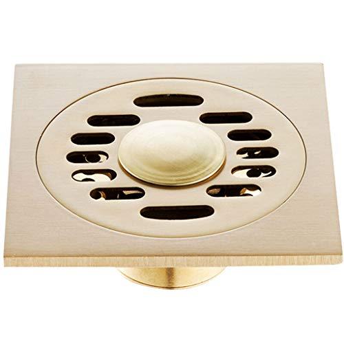 fallrohr abdichten HJL Kupfer Bodenablauf Automatische geschlossene Waschmaschine Badezimmer Küche Doppel-Drain Bodenablauf Gold Silber (Farbe : B)
