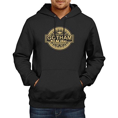TEXLAB - Gotham Logo - Herren Kapuzenpullover, Größe S, schwarz