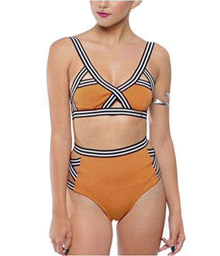 Sexy Bikini Set push-up Bendaggio 2pezzo unico Beachwear Karki