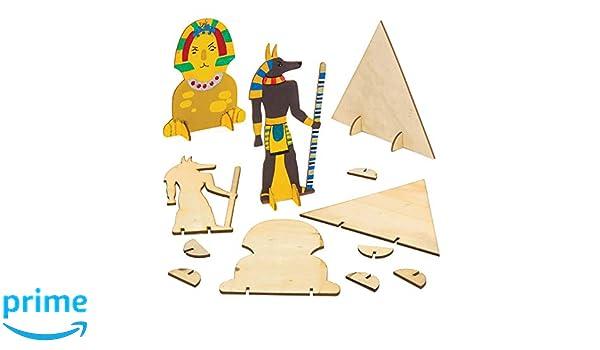 "Baker Ross Blanko-Stifteboxen /""/Ägyptischer Sarkophag/"" 3 St/ück"