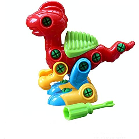 Fortan Giocattoli educativi Moda smontaggio Dinosaur design per i bambini bambini RD