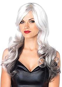 Leg Avenue- Mujer, Color gris y negro, Talla Única (EUR 36-40) (261122308)