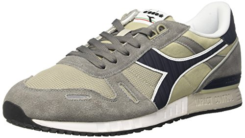 Diadora Titan Ii Scarpe Low-Top, Unisex adulto Grigio (Grey/Blue Denim)