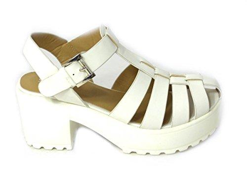 SKOS , Sandales pour femme White (8552-2)