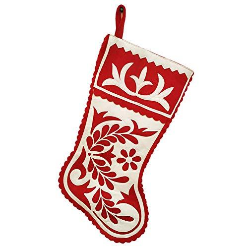 Angmile Calcetines de decoración de Chimenea de Navidad Calcetines de Navidad Bordados...