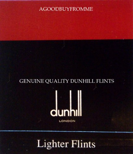 Dunhill-modell (1 x PAKET 9 DUNHILL ® ZIPPO FLINTS ROLLAGAS, ROT)