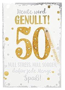 Depesche 3003.005Tarjeta de felicitación con Ornamento, 50cumpleaños