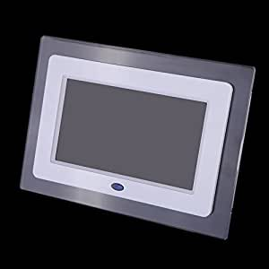 Andoer 7pouces TFT-LCD HD Cadre photo numérique Le diaporama Cadre Transparent réveil MP3 MP4 Movie Player Remote Desktop