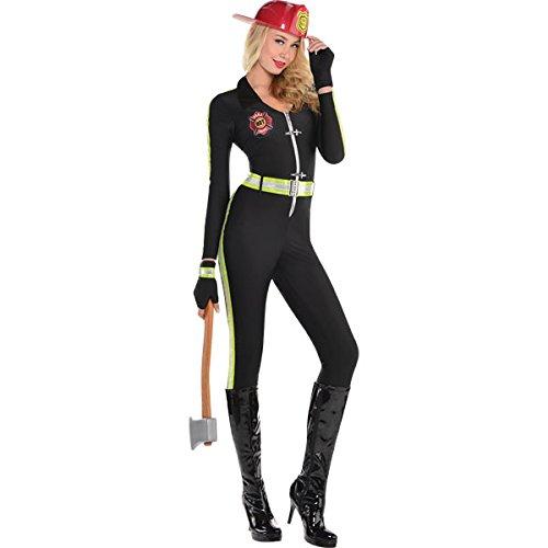 "Feuerwehr-Frau ""Fired up"" Anzug Damen Gr. S (Feuerwehr Frau Kostüm Kostüm)"