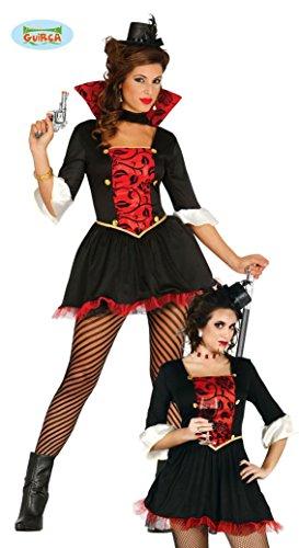 MPIR - Größe 42-44 (L), Vamp Vampiressa Teufelin Untote Graf Lady Dracula Fledermäuse Blutsauger (Gräfin Dracula Kostüme)