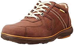 Redchief Mens Dark Brown Leather Trekking and Hiking Footwear Shoes - 7 UK/India (40.5 EU) (RC2892)