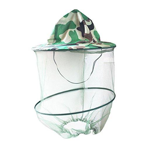 Bobury Anti-Moskito-Netz-Fischen-Hut-Kopf Ineinander greifen-Abdeckung Fischer Beanie Bienenzucht Camping-Schablonen-Gesichtsschutz Kappen für Aotu (Fischer Und Fisch Kostüm)