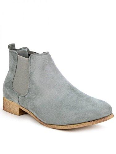 Cendriyon, Bottine grise CATNAKA Mode Chaussures Femme Gris