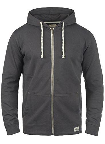 REDEFINED REBEL Mark Herren Sweatjacke Kapuzen-Jacke Zip-Hoodie aus 100% Baumwolle, Größe:M, Farbe:Antracit Grey