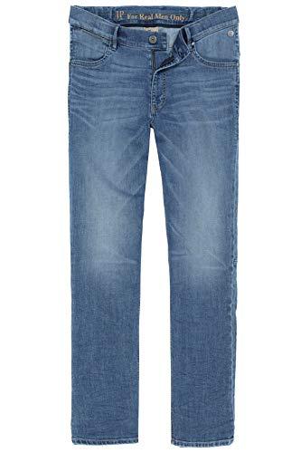 JP 1880 Herren große Größen bis 70, Jeanshose, Hose mit elastischen Gummieinsätze, Straight Fit, Denim, 5-Pocket, Travellar-Bund Light Blue Stone 35 718215 72-35