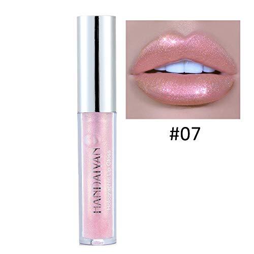 Berrose Lippenstift-Polarisiertes Licht Lipgloss Meerjungfrau Bunt Perle Wasserdichte langlebige...