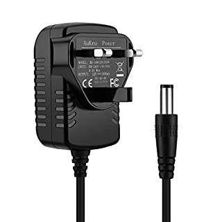 Aukru 12V 2000mA Power Supply 5.5mm AC DC Power Adapter Replacement TFT & LCD Monitor Expansion External Hard Drive Water Pump Charger