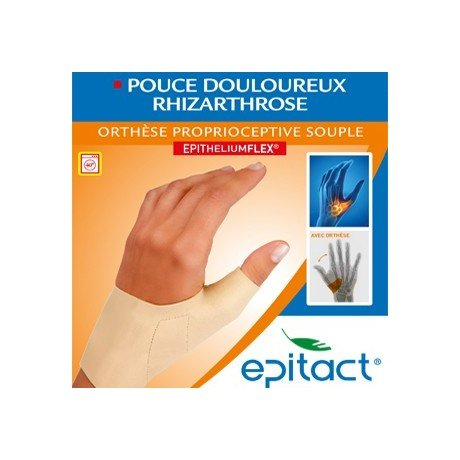 Epitact Supple Proprioceptive Orthosis Painful Thumb Right Hand - Size : Size S by Epitact