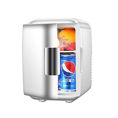 i persönlich Kühlschrank Auto Kühlschrank Klein Studentenwohnheim Einzeltür Elektronisch Kühler und wärmer Aufbewahrungsmaske Kosmetik (Color : Silver) ()