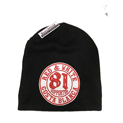 Hells Angels WorldWide Support Store/Big Red Machine World - Hells Angels  Support 81 Biker Beanie Big Red Machine black with Patch
