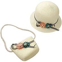 Niño Sombrero de paja sombrero de Sol para bebé niña Verano Playa Visera  Sombrero (+ 3498b2abdf9