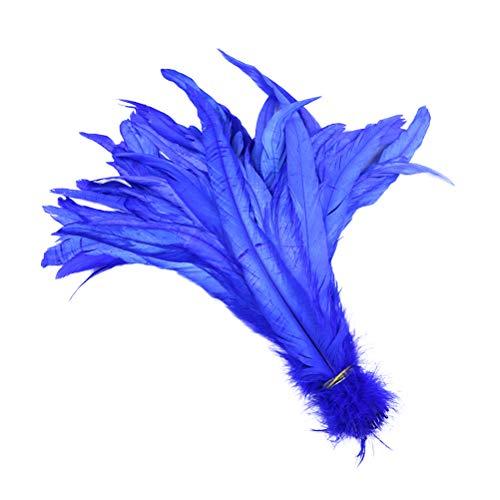 Healifty Hahn federn Künstliche Deko Federn DIY Ideal für Karneval, Basteln, Bekleidung, Kostüme Party Dekoration 50 Stücke 33-40 cm ()