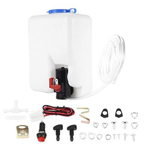 Nowear Auto Windschutzscheibe Glas Wischersysteme Universal-Waschmaschine Behälter-Wasser-Pumpen-Flasche Reservoir Installation Kit -